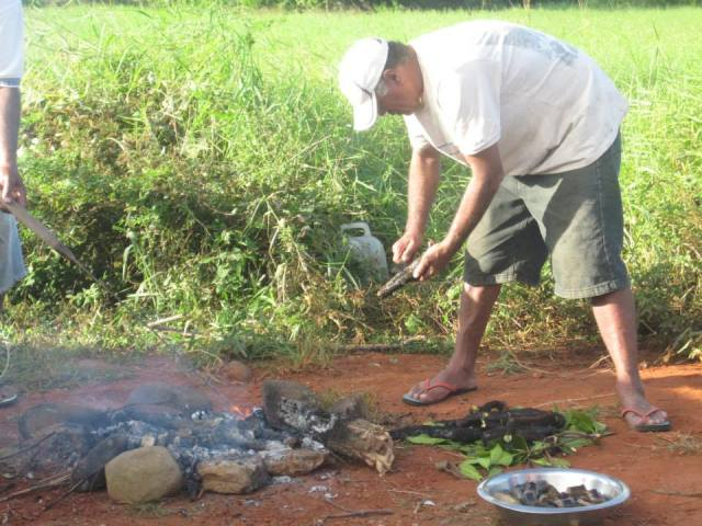 This is how the locals cook eels