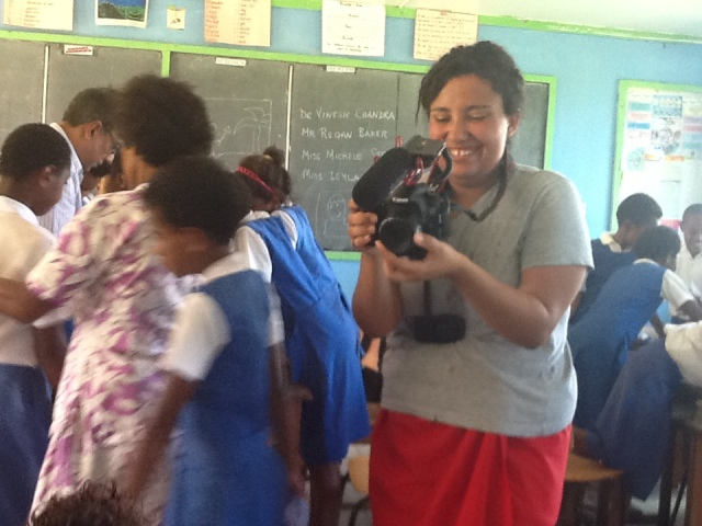 Leila - also with teaching and capturing some memorable moments on video