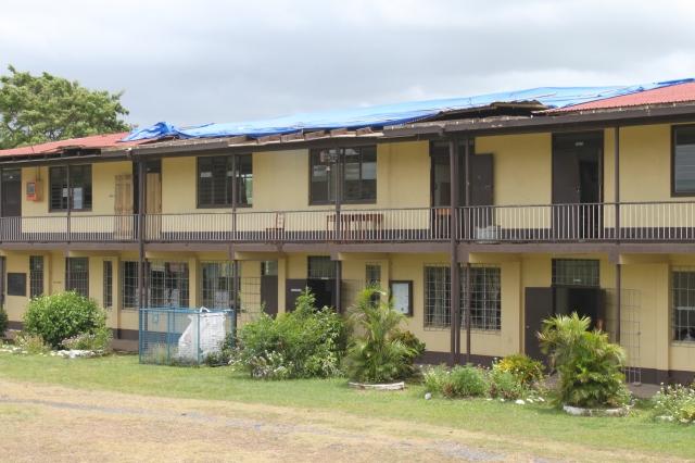 Balata High School (damaged roof after cyclones in Jan 2013)