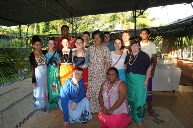QUT students with Mrs