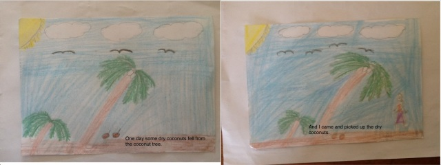 Pages from digital book written by a primary school student in Fiji