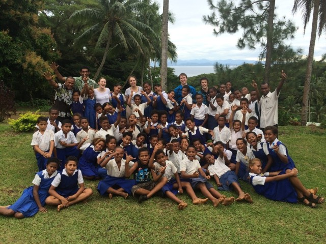 A group picture with the Year 5 and 6 students that we taught.