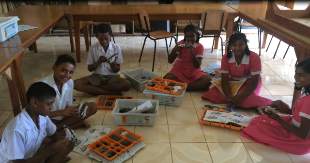The student's enjoyed creating the LEGO robots.