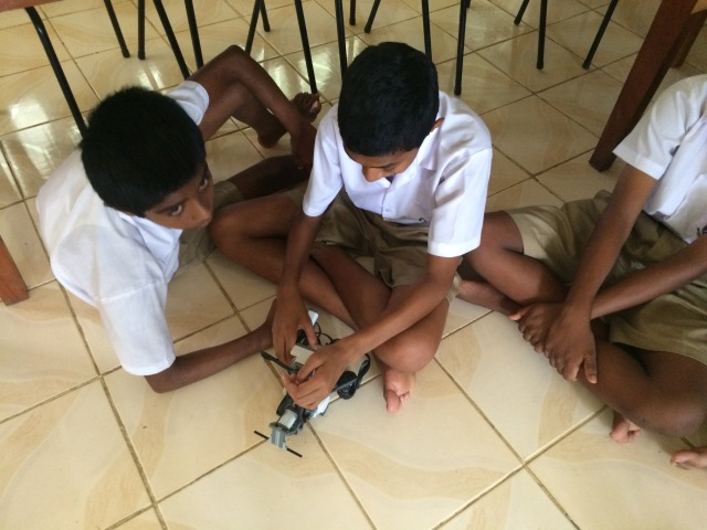 The students programmed their robots for a range of activities and challenges.