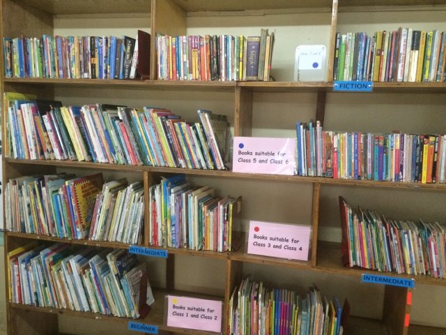 Fiction books were organised by reading level.