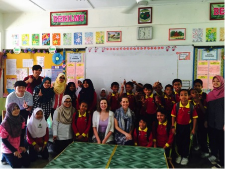 Our team with our students