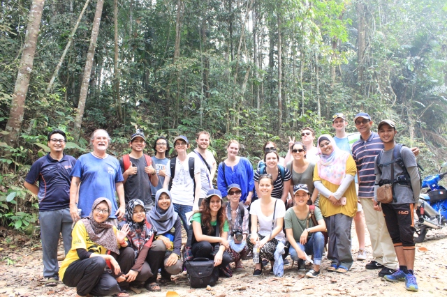 Part of our team at Sultan Idris Shah Forestry Education Centre (Photo: )