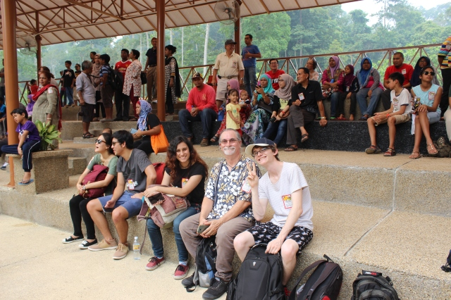 Part of the audience for the elephant show