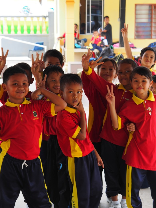 Happy children at SK Temai