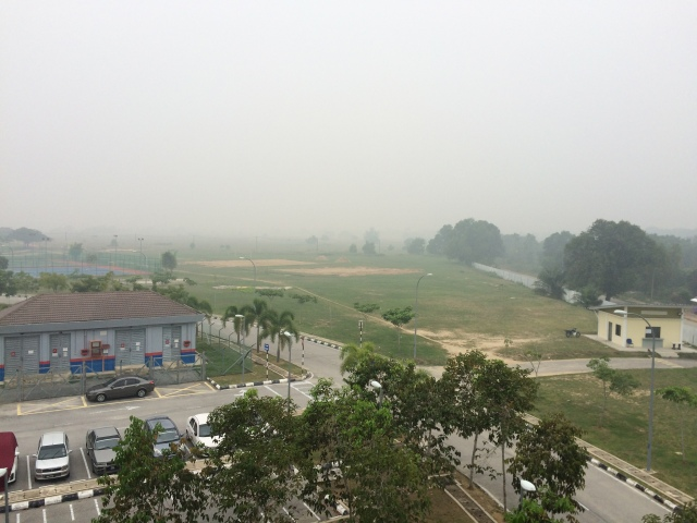 The view from my room at UMP, Pekan (28 September 2015)